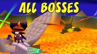 Spyro 2  All Bosses No Damage