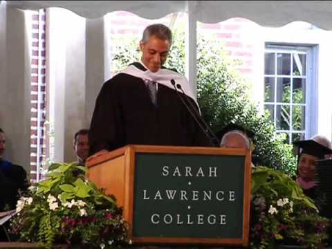 Rahm Emanuel - Really funny address to Sarah Lawrence's Class Of 2009 (1/2)