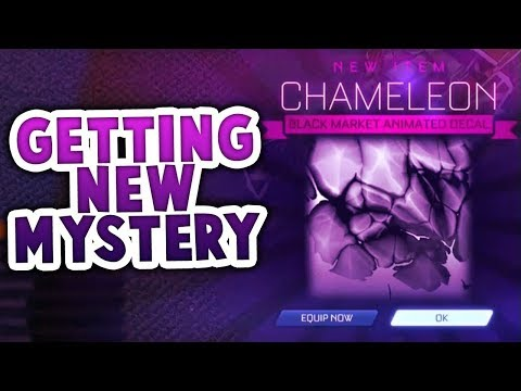 GETTING NEW CHAMELEON MYSTERY DECAL (ROCKET LEAGUE BEST TRADES)