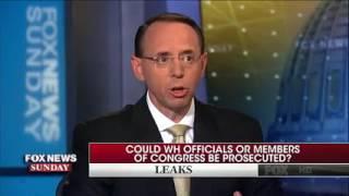 Rod Rosenstein discusses leak investigation