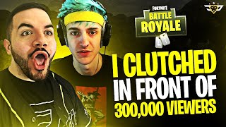 I CLUTCH IN FRONT OF 300,000 VIEWERS! $20,000 Match w/ NINJA! (Fortnite: Battle Royale)