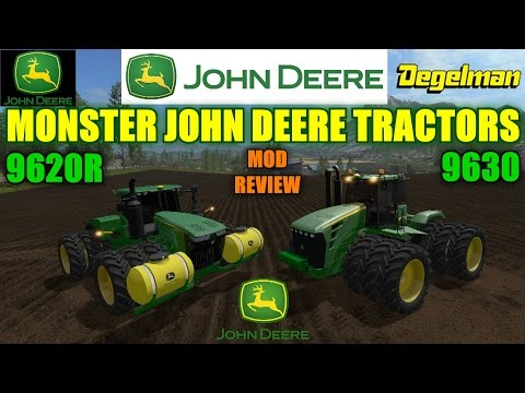 Farming Simulator 17 - John Deere Monster Tractor Mods Showcase