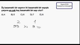 Pratik Matematik - 2 Sayının Çarpımı En Fazla Kaç Basamaklı olur ?
