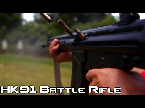 H&K 91 .308 Battle Rifle! (Semi-Auto H&K G3)   Super Slow-Mo 4K