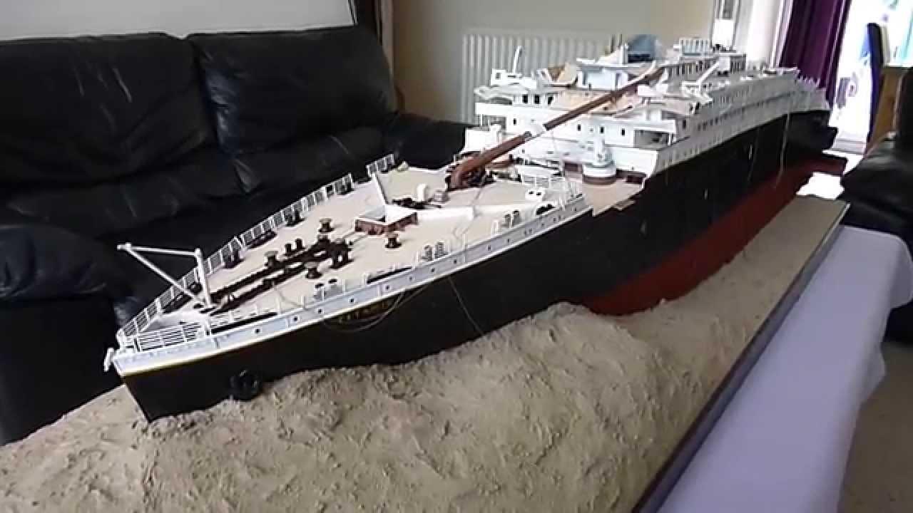Titanic 1912 Wreck 1 100 Scale Model By Jason King Youtube