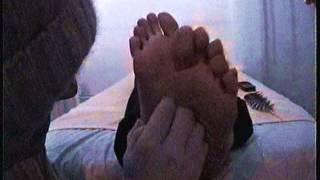 Lisa1 - tickling her beautiful thai feet (tickling the female hotel masseuse' feet)