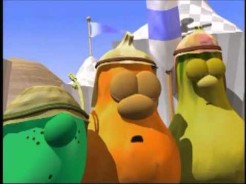 veggietales dave and goliath fight high and low pitched