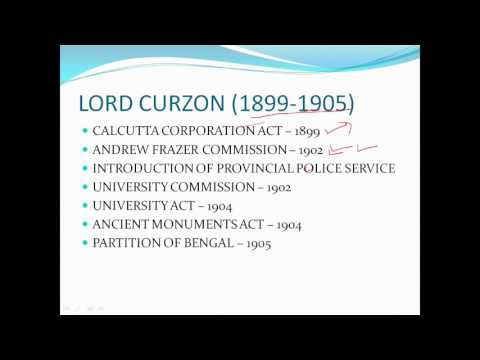 Lord curzon partition of bengal