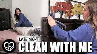 LATE NIGHT CLEAN WITH ME | AFTER DARK MOTIVATIONAL CLEANING | EXTREME MASTER BEDROOM SPEED CLEANING