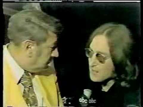 John Lennon on Monday Night Football 1974