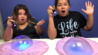 DIY 2 GALLONS OF COLOR CHANGING LASER SLIME - MAKING 2 GALLONS OF UV SLIME