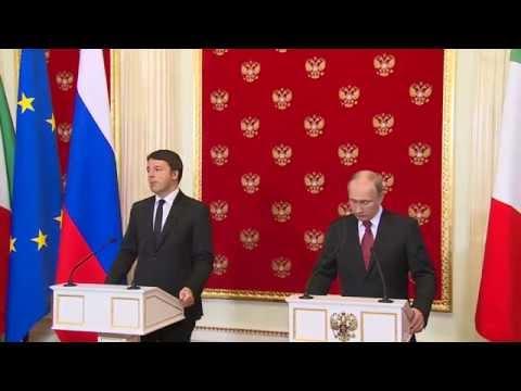 Matteo Renzi Valdimir Putin Conferenza Stampa a Mosca