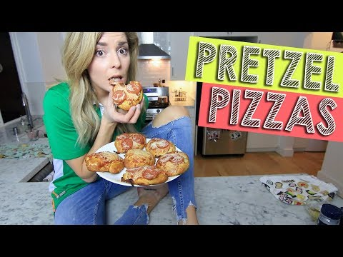 HOW TO: PRETZEL PIZZAS // Grace Helbig