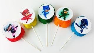 Pj Masks Toys, Play Doh Lollipop Pj Masks Wrong Heads in Water