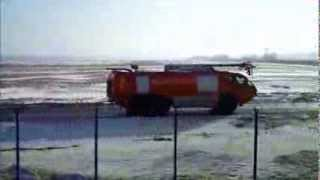 Airport Fire Brigade LOT Mike Tyson & AIR Berlin EPWA RWY11 Feb 2014