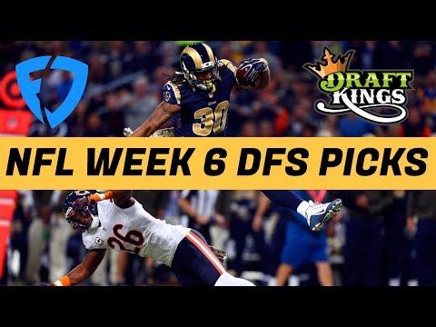 2017 Fantasy Football: Week 6 NFL DraftKings + FanDuel Picks & Preview