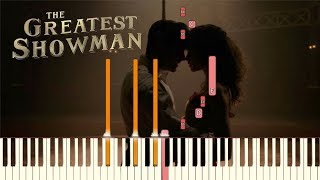 """The Greatest Showman - """"Rewrite The Stars"""" [Piano Tutorial] (Synthesia)"""