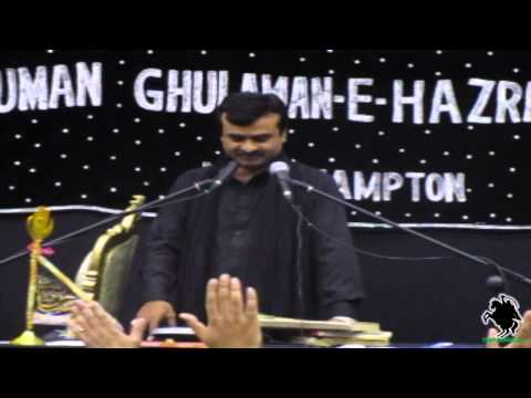 Zakir Qazi Waseem Abbas of Khanewal - AGHA Northampton (UK) - 5th May 2013/1434