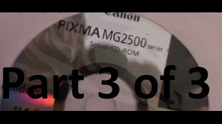 Professor V's Cannon Printer Pixma MG2520 SCANNER Operation Part 3 of 3