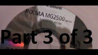 01. Professor V's Cannon Printer Pixma MG2520 SCANNER Operation Part 3 of 3