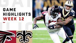 Falcons vs. Saints Week 12 Highlights | NFL 2018