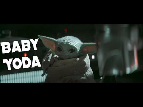 Baby Yoda in da Mandalorian house (Radio Button Mix) | 4K