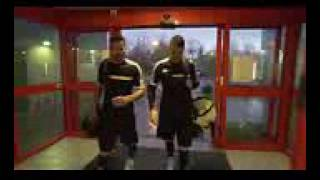 F2free stylers practice session l crazy footh ball skills/football free style Double Act/Db