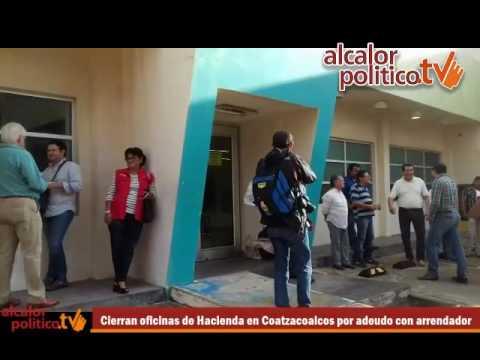 Cierran oficinas de Hacienda en Coatzacoalcos por adeudo con arrendador