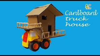 How To Make Cardboard Truck House,DIY Paper Truck House.