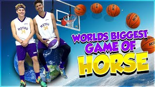 Worlds BIGGEST GAME of HORSE - INSANE Trickshots!