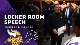 Mike Zimmer Gives Locker Room Speech After Win Over Detroit Lions, Awards Game Ball To Kirk Cousins