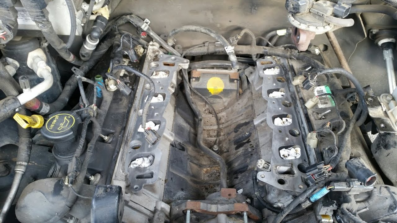 2005 ford f 150 4 6 intake manifold removal youtube