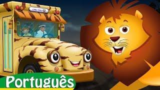 As Rodas Do Ônibus | Animais Selvagens | Canções Infantis Em Português | ChuChu TV Colecção