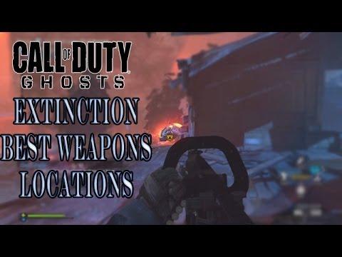 Call Of Duty Ghosts Extinction How To Get Best Weapons In Extinction (LMG LOCATIONS)