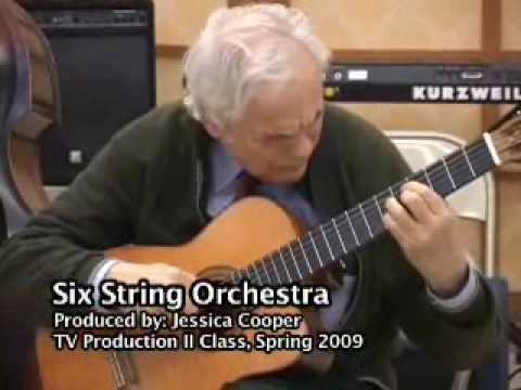 Jazz guitarist Gene Bertoncini conducts a music class