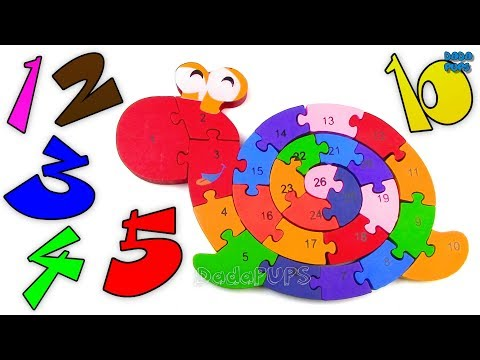 12345678910 SNAIL Puzzle|Learning Numbers 1 to 26|Learning Numbers 12345678910|Magic Numbers 1 - 26
