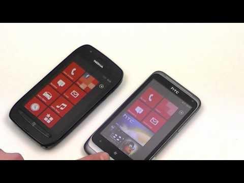 English: Nokia Lumia 710 vs HTC Radar review