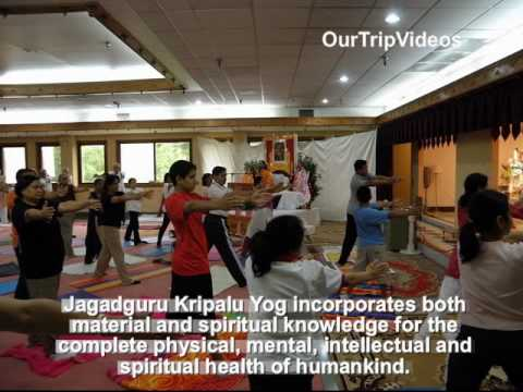 Yoga And Meditation - Jagadguru Kripalu Yog, Shri Mangal Mandir, Silver Spring, Md, Us - Part 1 video
