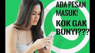 Cara mudah mengaktifkan notifikasi nada pesan whatsapp