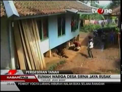 Fenomena Tanah Bergeser di Cianjur, Jawa Barat