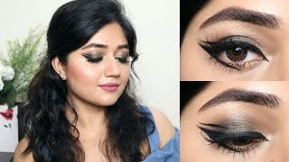 Graphic Eye Liner Looks + Nykaa 24H Vinyl Luxe Eye Liner Review