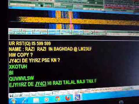 My RTTY QSO with JY4CI on 20m band in 29 12 2012