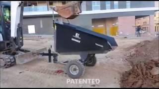 Video Dumper hopper for miniexcavator 2