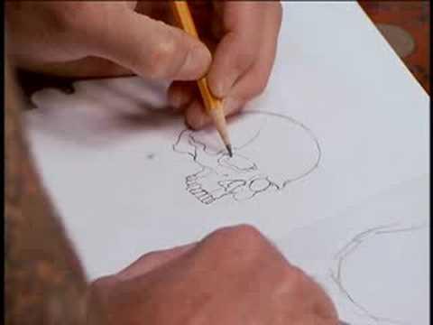 Celebrity Chef Anthony Bourdain lets Chris Garver tattoo a skull (yeah!