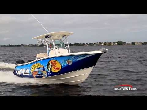 Mako 234 CC Test 2014 with 2 x 150-hp Mercury 4-stroke- By BoatTest.com