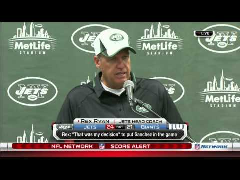 Rex Ryan presser. Analysts discussion is included.
