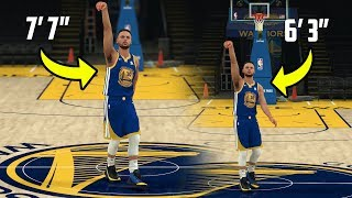 What If Stephen Curry Was 7 Foot 7? NBA 2K18 Gameplay Challenge!