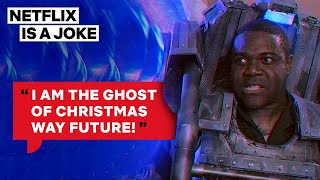 Scrooge Encounters A Cyborg From Christmas In 3050 | Netflix Is A Joke