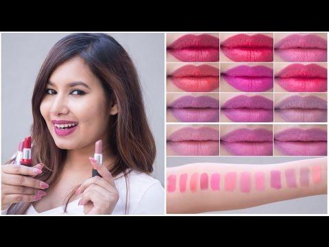 Maybelline Colorshow Creamy Matte Lipcolor Swatches   Sonal Sagaraya