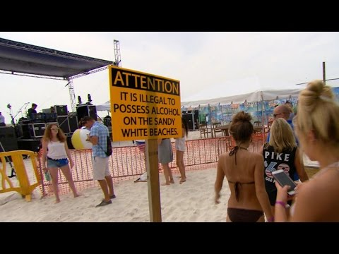 Florida beaches struggle with stance on spring break